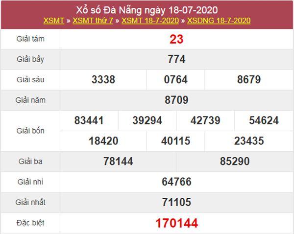 Thống kê XSDNG 22/7/2020 chốt KQXS Đà Nẵng thứ 4