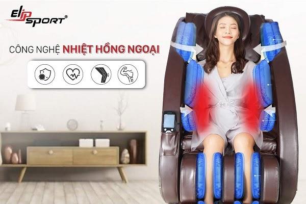 Máy massage lưng dễ dàng sử dụng