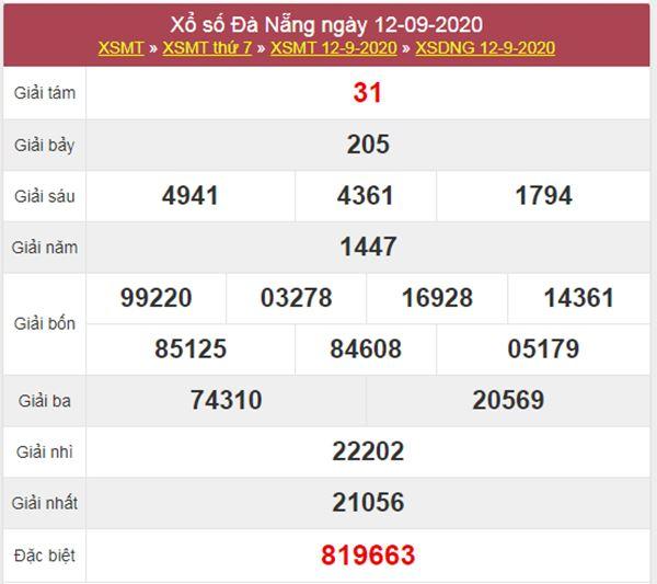 Soi cầu KQXS Đà Nẵng 16/9/2020 thứ 4 cùng cao thủ