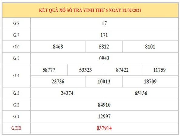 Soi cầu XSTV ngày 19/2/2021 dựa trên kết quả kỳ trước