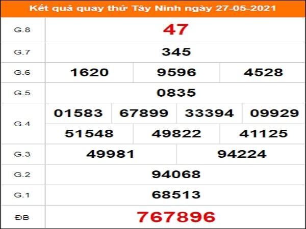 Quay thử xổ số Tây Ninh ngày 27/5/2021