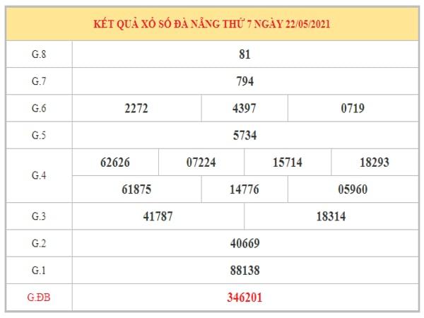 Nhận định KQXSDNG ngày 26/5/2021 dựa trên kết quả kì trước