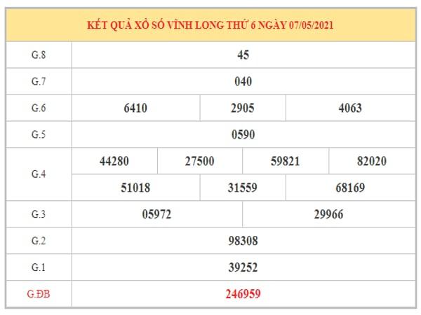 Nhận định KQXSVL ngày 14/5/2021 dựa trên kết quả kì trước
